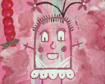 """Mixed Media Collage Art, """"Party Girl"""""""
