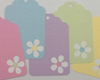 Handmade - Set of 5 Daisy Gift Tags