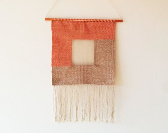 """Woven wall hanging tapestry """"Square"""""""