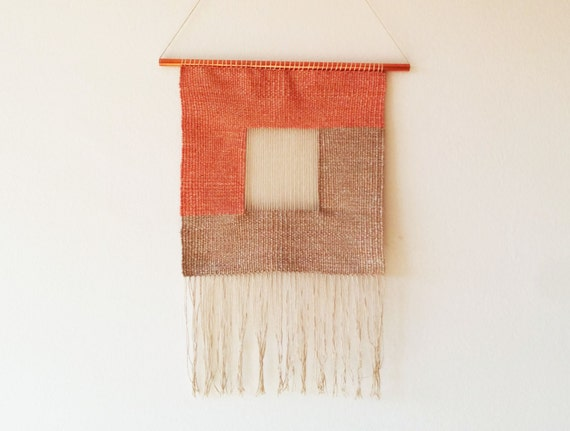 "Woven wall hanging tapestry ""Square"""