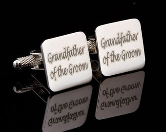 Grandfather of the Groom Laser Wedding Cufflinks
