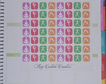 Small Yoga Icon Stickers