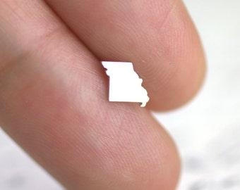 Petite Missouri Stud Earrings, Cute Helix Earring, Cute Missouri earrings, I heart St. Louis, Hometown Jewelry, Missouri earrings