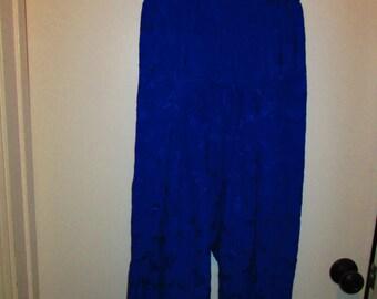 Vintage Cobalt Harem Pants