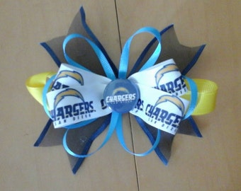 NFL San Diego Chargers Hair Bow