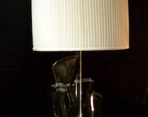 Table Lamp Van Teal Vintage Signed Lucite Lamp