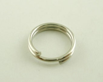 Double Loop Jump Ring, Split Open Jump Rings, 7 mm Jump Ring, Silver Jump Ring, 100 count, (SR-7-AS)