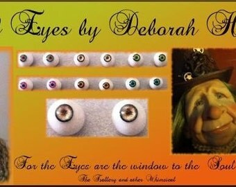 Eyes Set in Polymer Clay