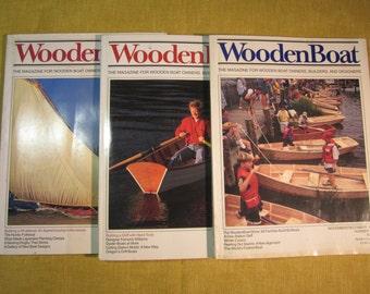 3 Wooden Boat magazines, #145 Nov./Dec. 1998, #146 Jan./Feb. 1999, #151 Nov./Dec. 1999