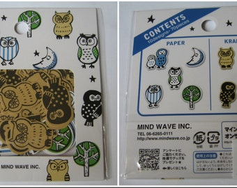 Brand New Mind wave owl stickers (10 designs, 70 pieces)