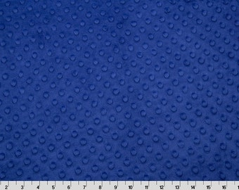 Dimple Dot Minky Cuddle in Midnight Blue from Shannon Fabric 1 yard