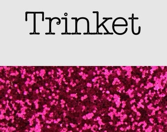 Chunky smooth glitter fabric A3 Pink