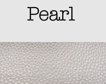 Pearl cream textured grain leatherette faux leather  A4