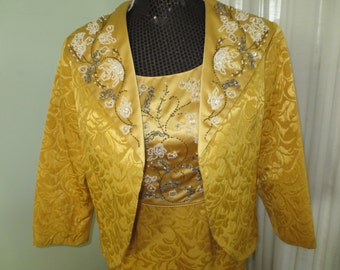Gold Brocade1960's Evening Gown and Jacket