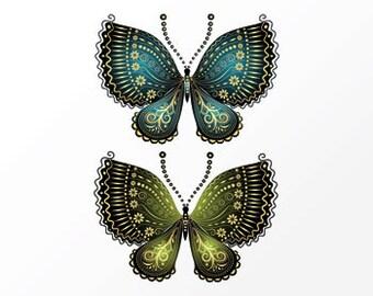 """Temporary tattoo """"Butterflies"""""""