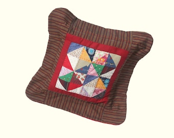 Homesewn Patchwork Cushion and Pad.