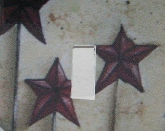 Triple Star Single Toggle Light switch plate cover