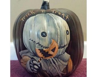 Sam Trick r Treat pumpkin