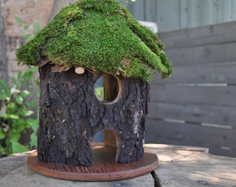 Large Fairy and Gnome Log House