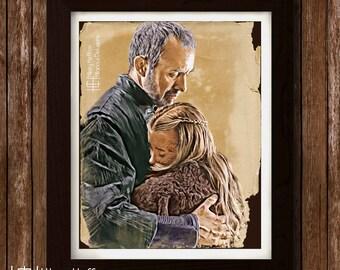 Daughter - Shireen & Stannis Baratheon, Digital Painting Print, Game of Thrones