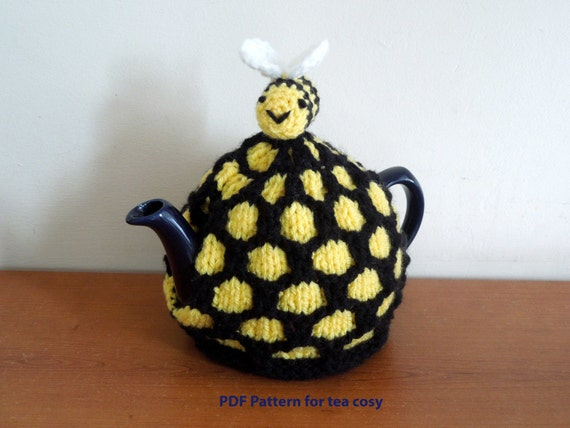 Beehive tea cosy knitting PATTERN ONLY. For 4-6 cup (2 pt ...