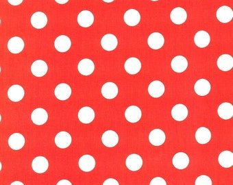 Quarter White Dots on Clementine Red by Michael Miller - PC3744-CLEM-D