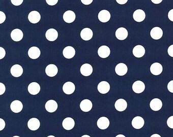 Quarter Medium White Dots on Midnite Blue by Michael Miller - PC3744-MIDN-D