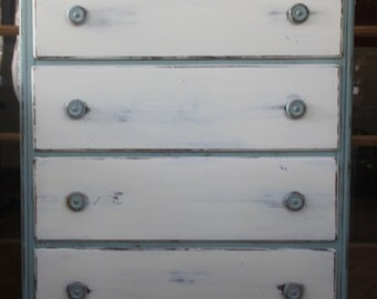 SOLD! Hand Painted Vintage Shabby Chic Dresser - local pickup only