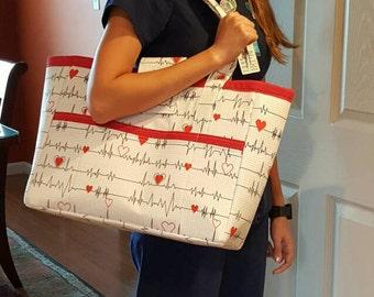 Medical themed large tote, nurse bag