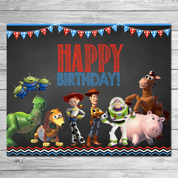 ... Toy Story Birthday Party Sign // Toy Story Party // Printable Toy