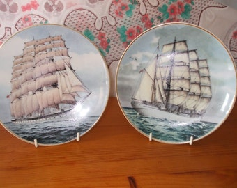"Sailing Ships ""Lawhill"" and ""Routenburn"" plates"