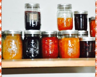 Assorted Jams, peach jam, cherry jam, grape jam, mango jam, strawberry jam, raspberry jam, blue berry jam, blackberry jam
