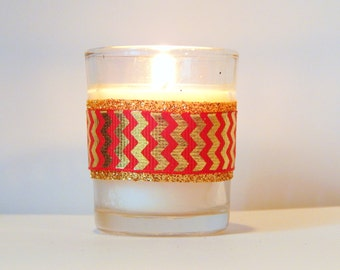 Coral Wedding Favors   Coral Wedding Decor   Coral Party Decor   Coral  Candles   Coral