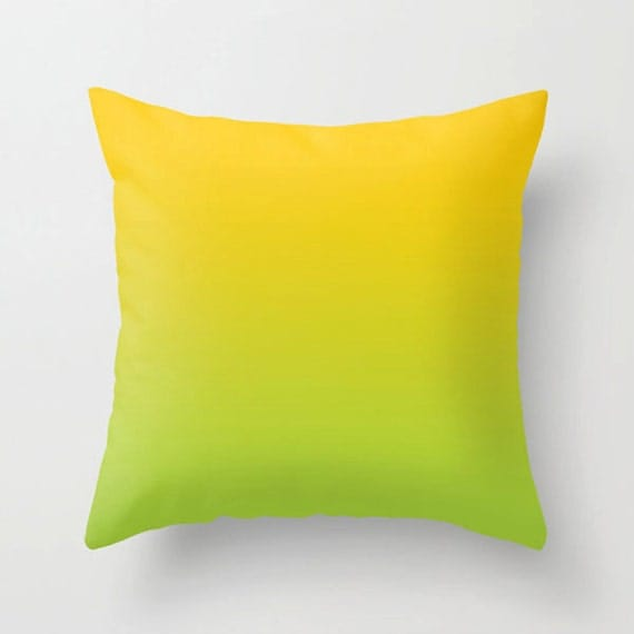 Yellow green Pillow Color pillow Decorative colorful throw