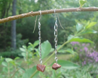 Sunstone & Sterling Silver Earrings