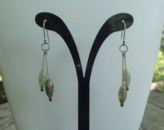 Jasper & Sterling Silver Earrings