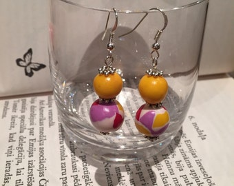 Handmade colorful earrings