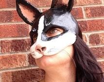 Cat Mask/ Paper mache cat mask / papier mache mask