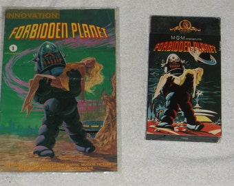 vhs-sci-fi -forbidden planet-lot of 2-1980s-fair