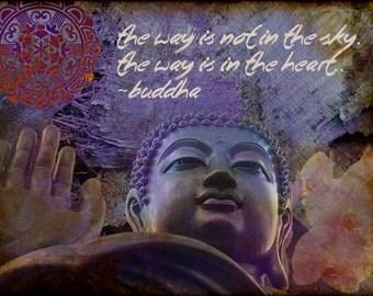 The Way - Buddha digital collage