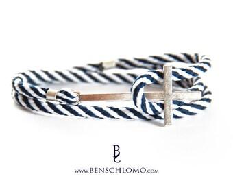 Cross bracelet, Nautical bracelet, Men bracelet, Maritim, Fashionable Accessoire