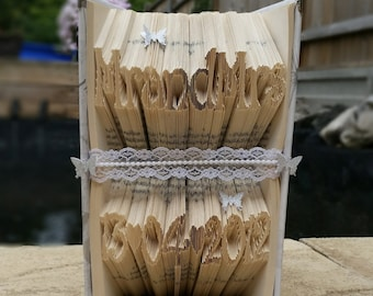 Mr & Mrs Wedding Date Book Fold
