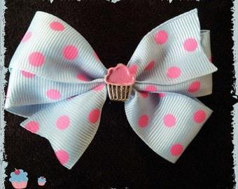 Pastel goth cupcake  hair clip
