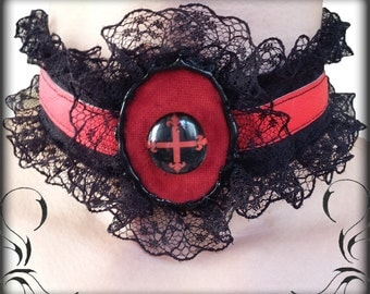 Gothic victorian laced choker/collar