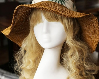 Straw hat, Women's summer straw hat, summer sun hat
