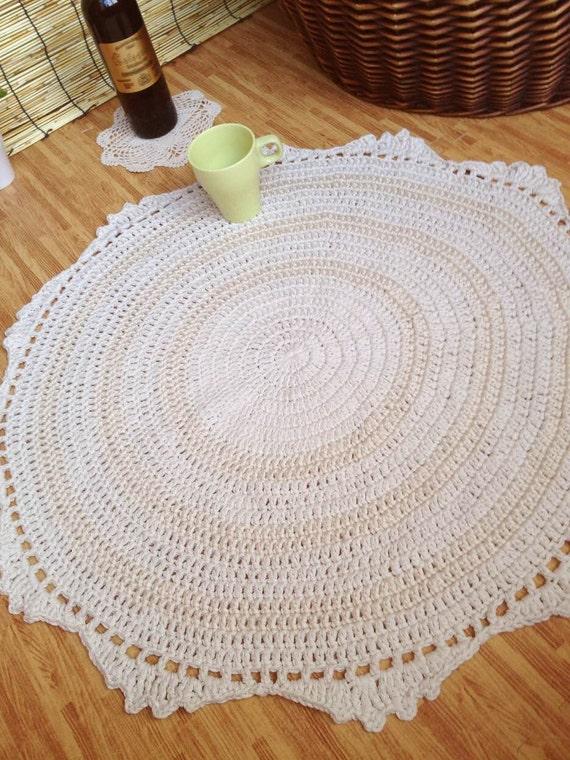 Knitting Pattern For Round Rug : crochet rug round rug carpet knitting rugcat rug
