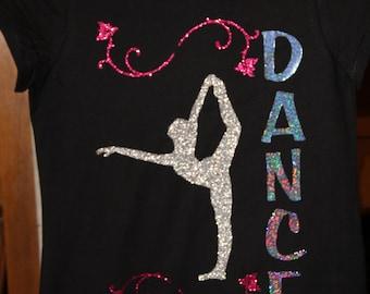Girl's Glitter Vinyl and Deco Sparkle Dance Shirt