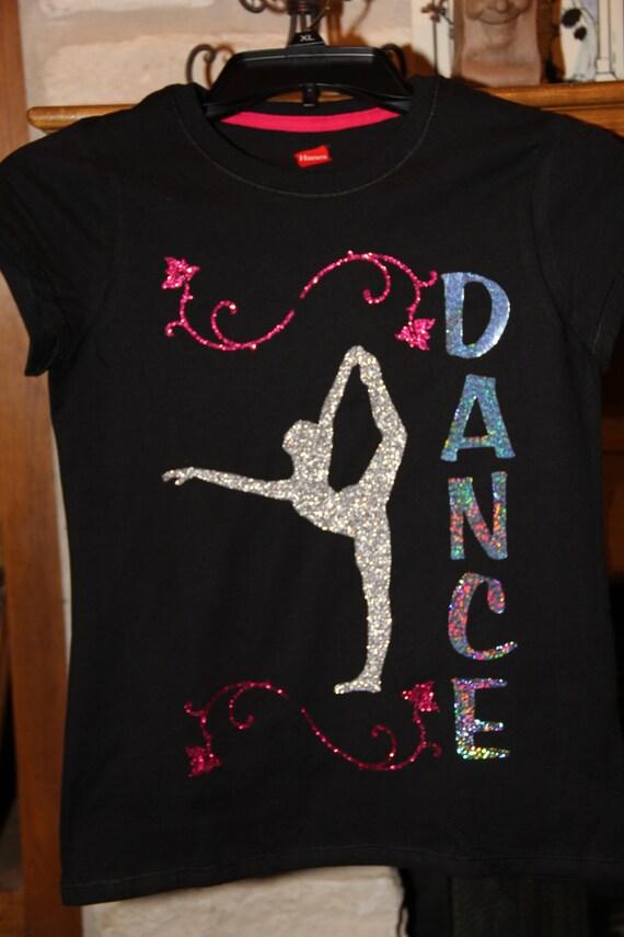 Girls Glitter Vinyl And Deco Sparkle Dance Shirt
