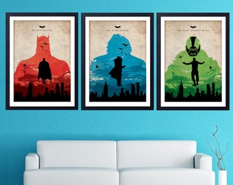 Batman  Poster 3 set home decor wall decor  art poster