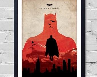 Batman begins Poster home decor wall decor  art poster